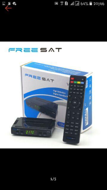Ready Stock Freesat V7 Set Top Box Satellite TV Receiver Support