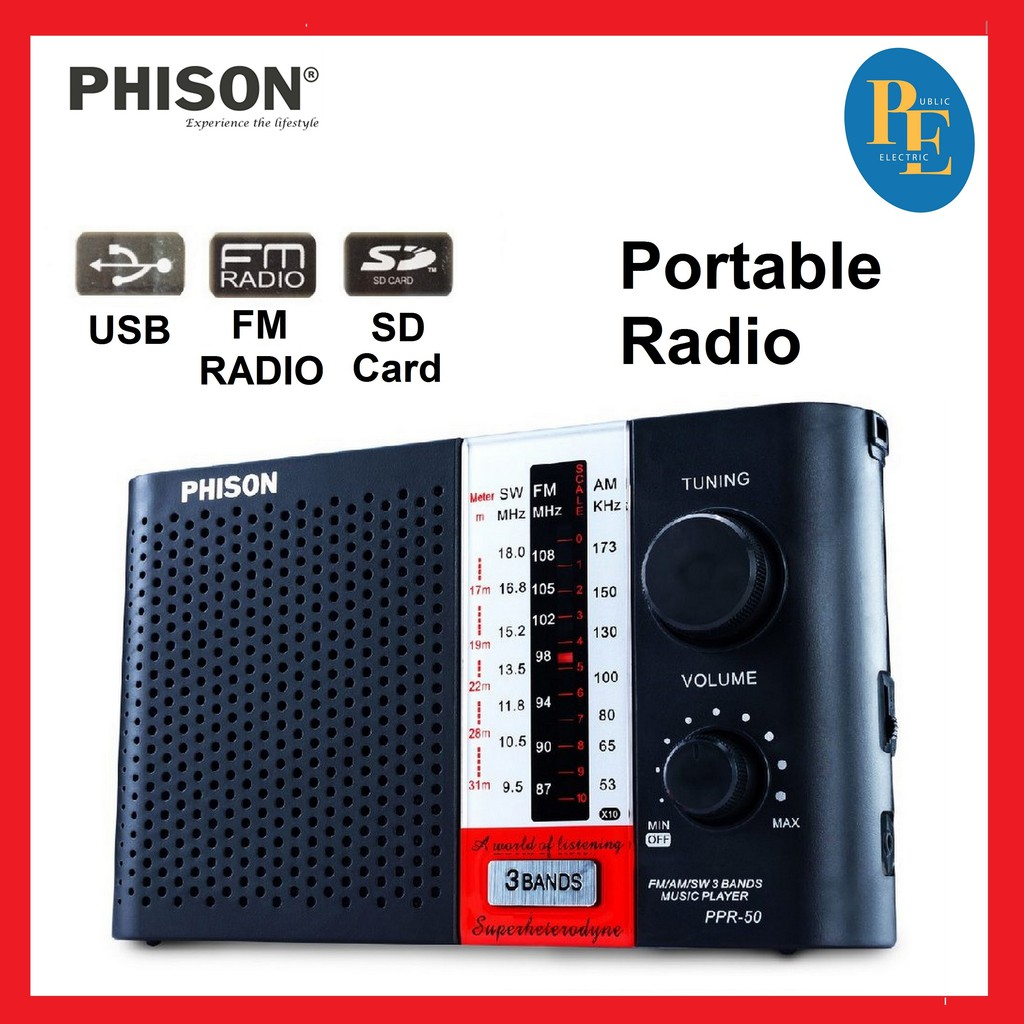 Phison 3 Band Portable Radio - PPR-50