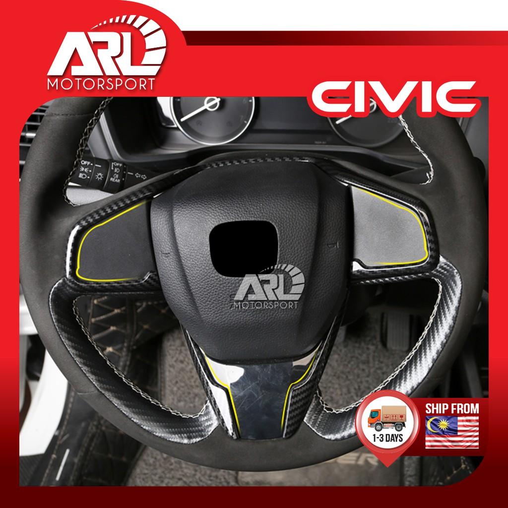 Honda Civic X (2016-2020) FC Car Steering Lining Carbon Fiber Design Car Auto Acccessories ARL Motorsport