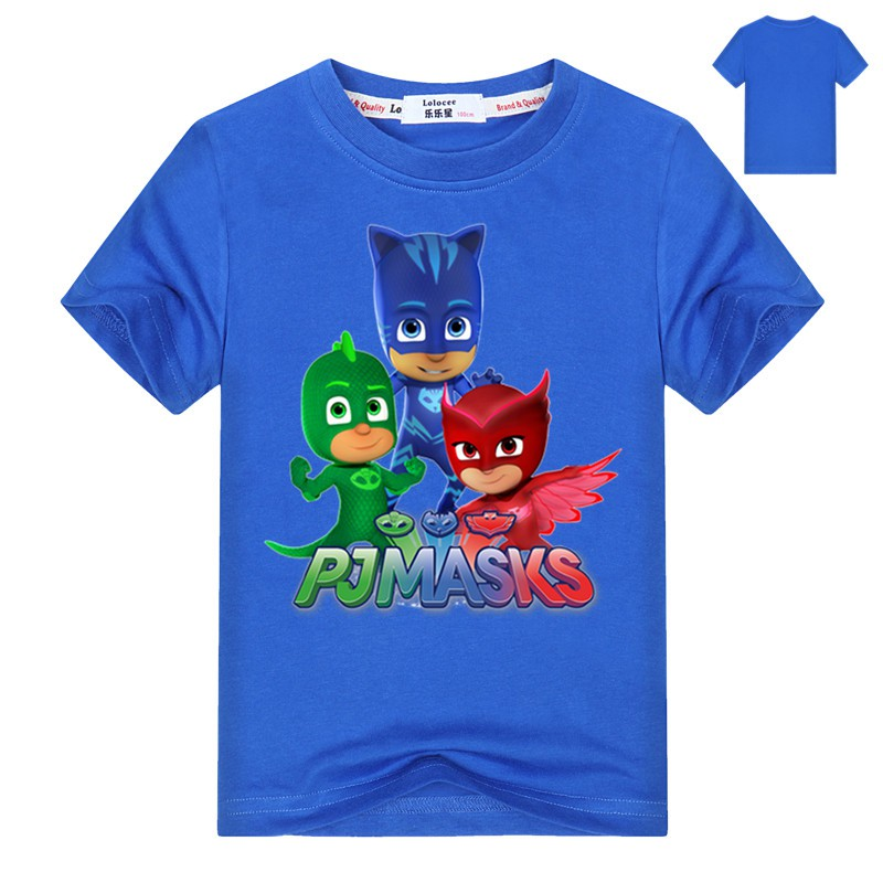 Boys Kids Official PJ Masks White Short Sleeve T Shirt Top