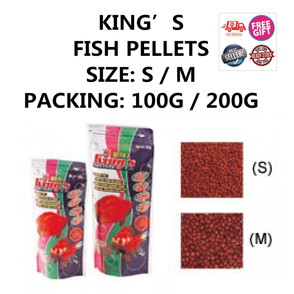 KING'S FISH FOOD SIZE: S / M 100G / 200G