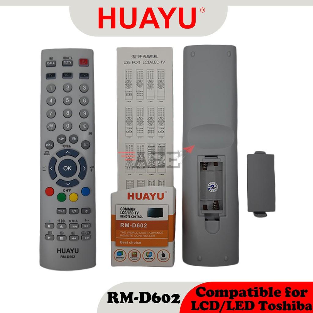 Huayu RM-D602 Multi LCD TV Remote Control (Compatible: Toshiba)