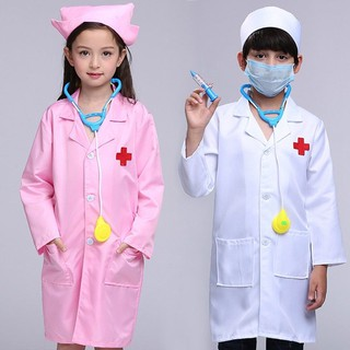 Girls Boys Hospital Doctor Outfit Occupation Uniform Costumes Kid Fancy Dress up