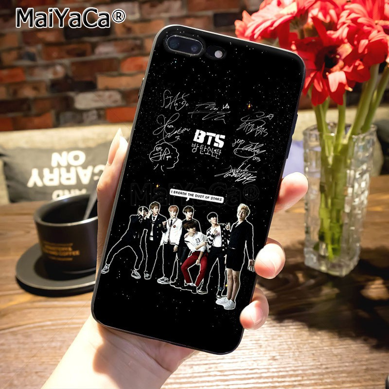 new product 11a44 d130f KPOP BTS Signature On Sale Luxury Cool Phone Case for iPhone 8 7 6 6S Plus  X 5S