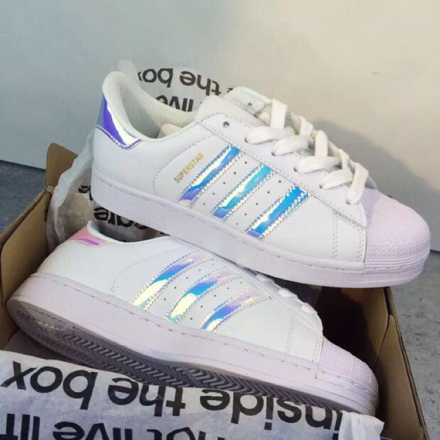best sneakers aea1d c98b1 Promotion Adidas Hologram holographic laser superstar shoes