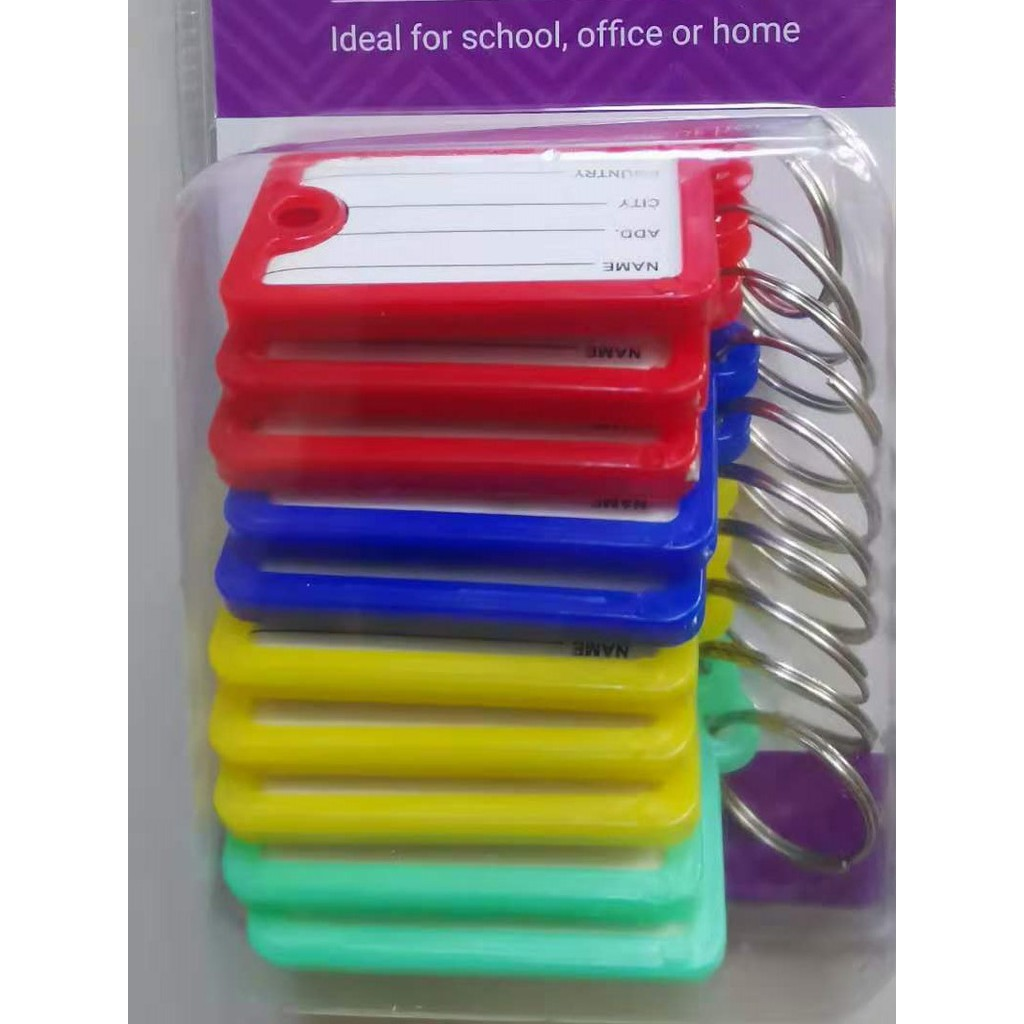 Plastic key Chain Colorful - 10pcs in 1 Pack
