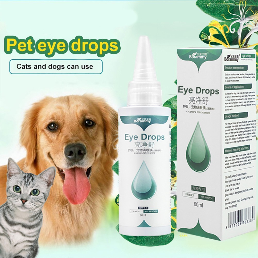 Cat Dog Pet Eye Drop 60ml Remove Tears Eye Feces Cleaning Supplies | Eye Care Eye infection Eye cleaning