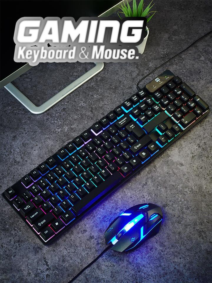 Wired USB Gaming Keyboard Mouse Set CL340