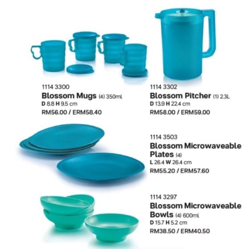 READY STOCK Tupperware Blossom Set - Mugs/Pitcher/Plates/Bowls