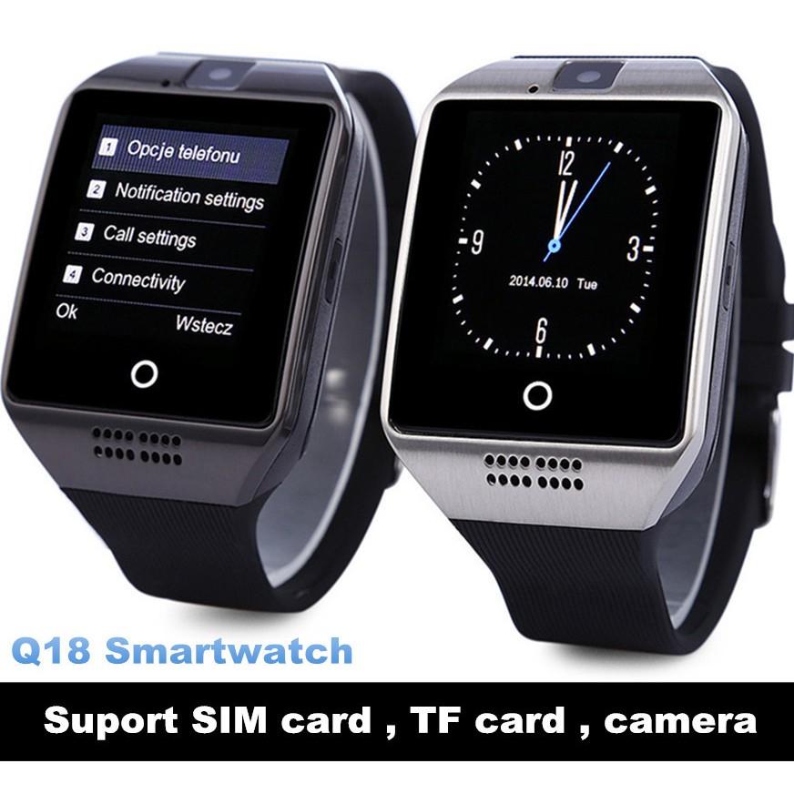 NFC Bluetooth Smart Watch Q18 With Camera FM Facebook SMS MP3 Smartwatch
