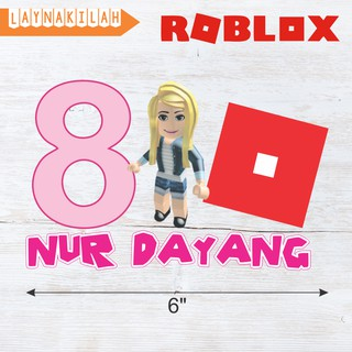 Roblox Game Customize Top Cake Topper No Diy Needed Decoration