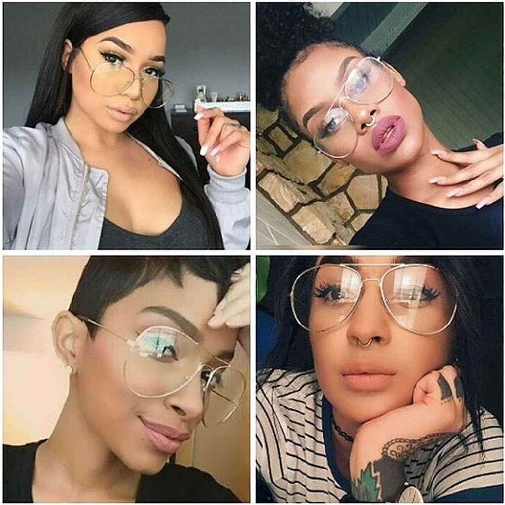 345795e8b ProductImage. ProductImage. 3Day Vintage Retro Classic Metal Aviator Clear  Lens Glasses Unisex Men Women Fashion Eyewear Sunglasses