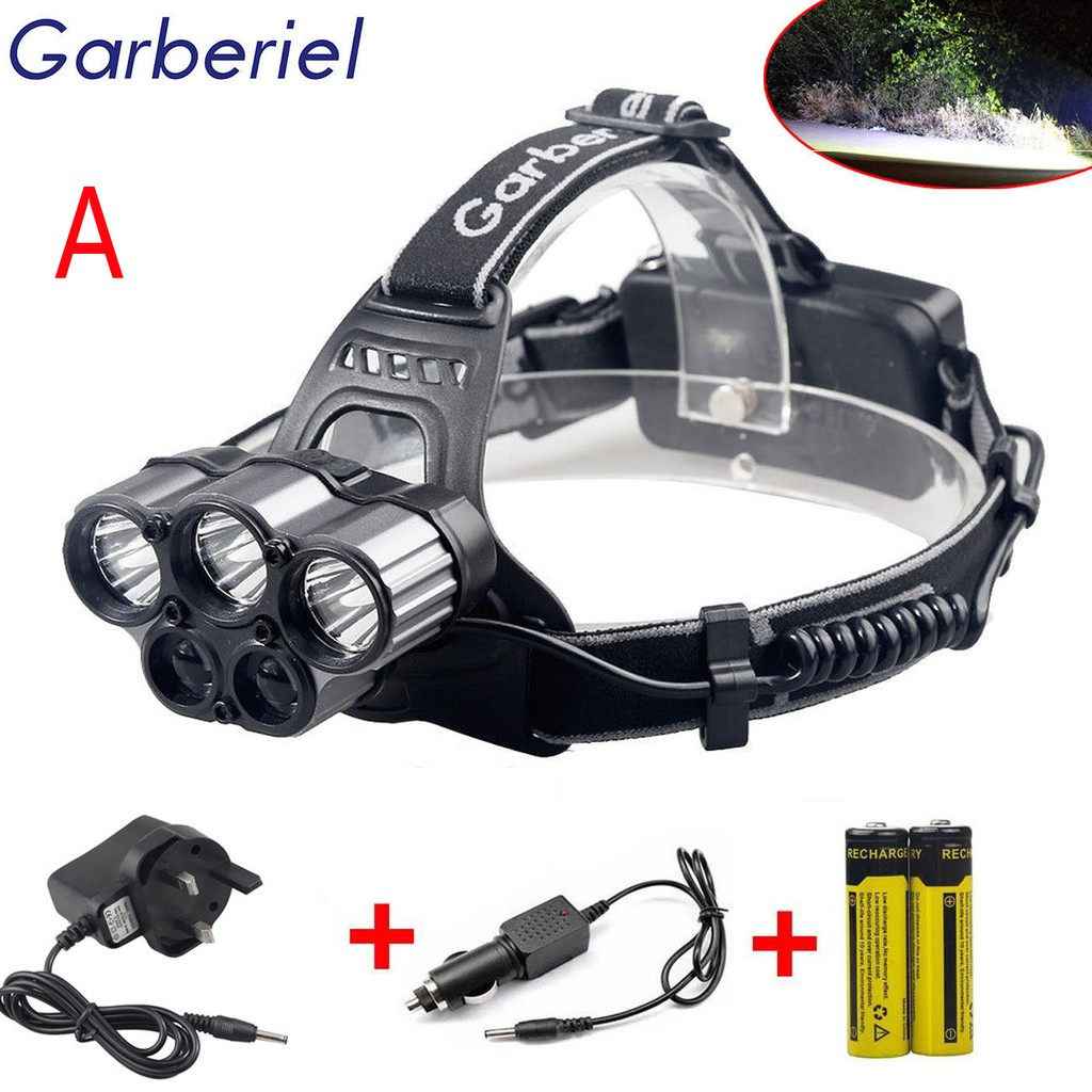 Garberiel 30000LM 2X T6 LED Headlamp Headlight Head Light USB Rechargeable Torch