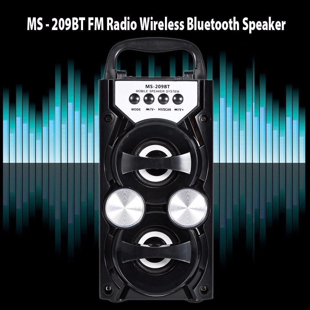 MS-209BT Portable speaker Wireless Bluetooth Speaker FM Radio