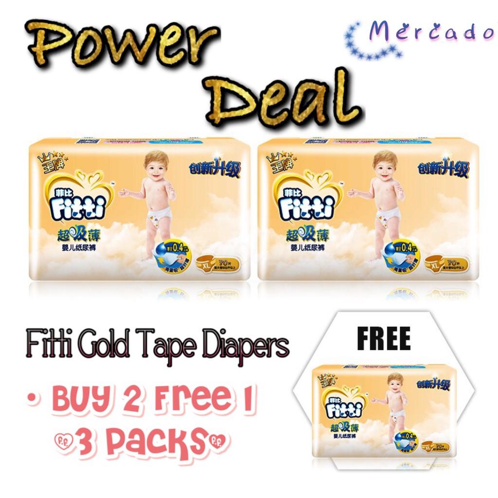 Fitti Gold Tape Jumbo Shopee Malaysia Lihat Pampers Popok Celana Size L 6x24 Premium Care