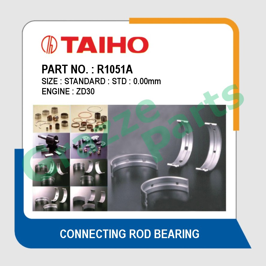 Taiho Con Rod Bearing STD Size R1051A for Nissan ED25 ZD30