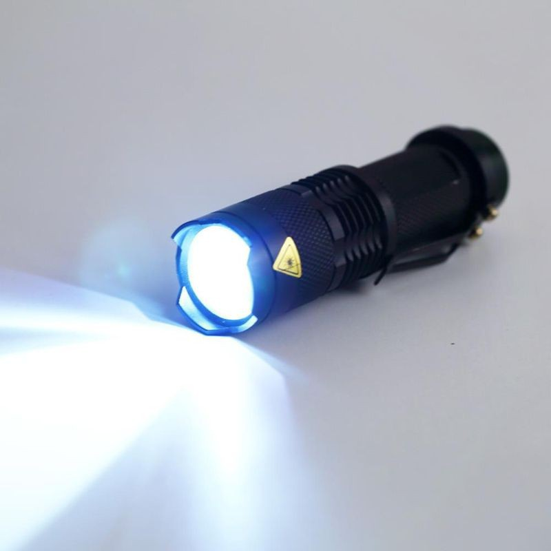 Torch Light LED Cree Q5 Ips-6 Waterproof Flashlight Zoom In Zoom Out