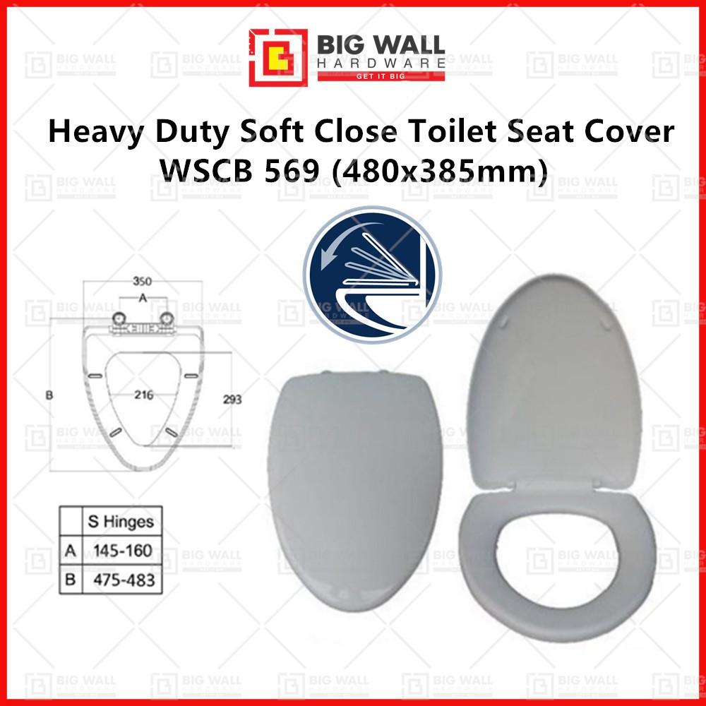 Heavy Duty Soft Close Toilet Seat Cover WSCB 569 480x385mm V Shape Big Wall Hardware