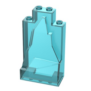 LEGO® Trans-Light Blue Door 1 x 4 x 6 with Stud Handle Part 60616 MOC