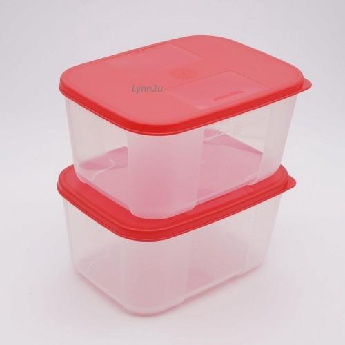 Tupperware FreezerMate Small II (2) 650ml - Red