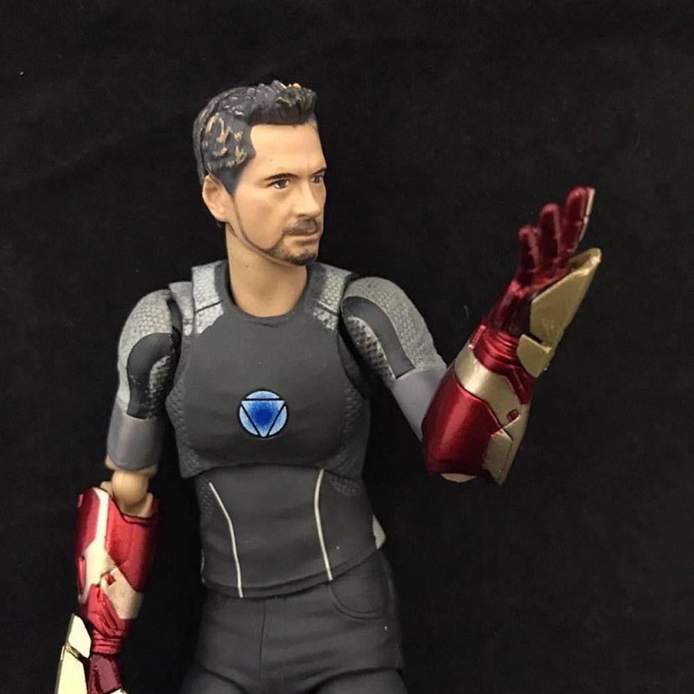 S.H.Figuarts Marvel IRON MAN 3 TONY STARK Action Figure Mk42 TONYS POWERED STAGE