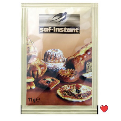 saf-instant Dry Baker's Yeast 11g ( Free Fragile + Bubblewrap Packing )