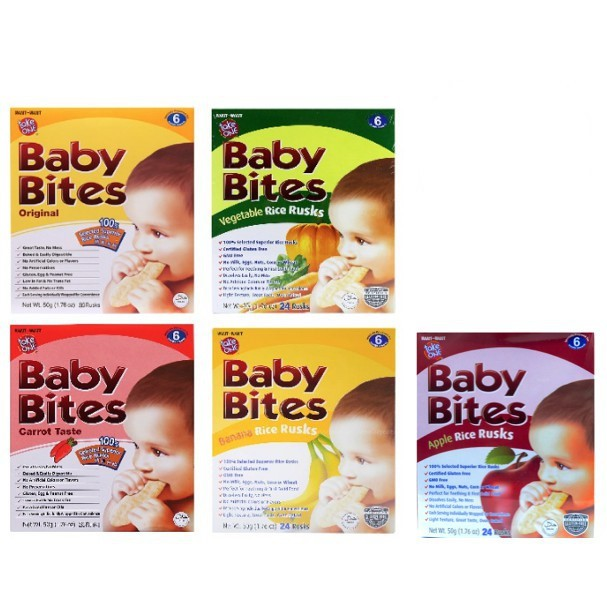 Baby Bites All Flavor 50g (24 Rusks)
