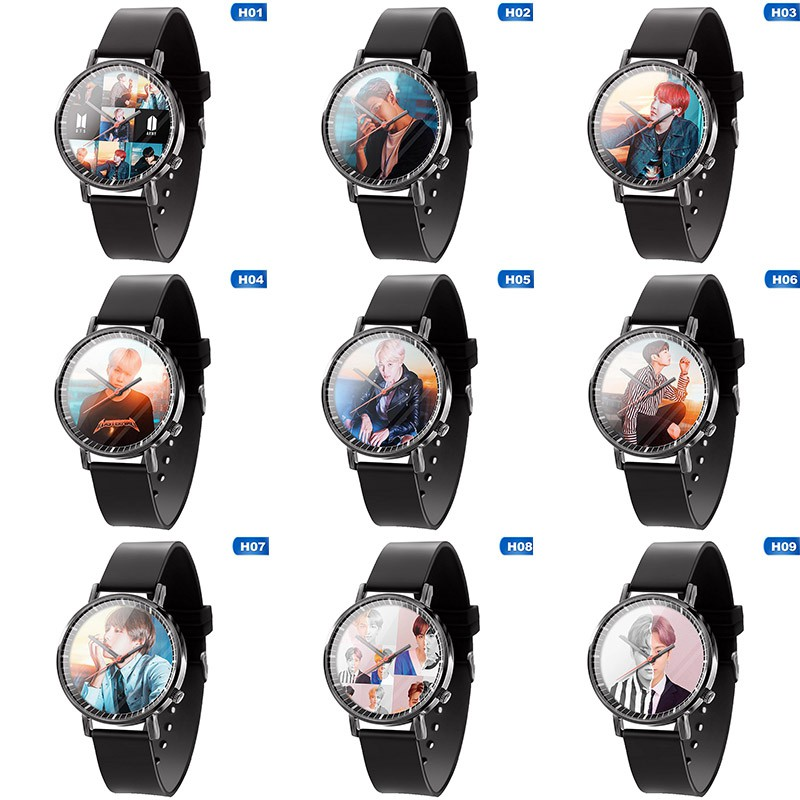 Kpop BTS Watch LED Waterproof Luminous Wristwatch