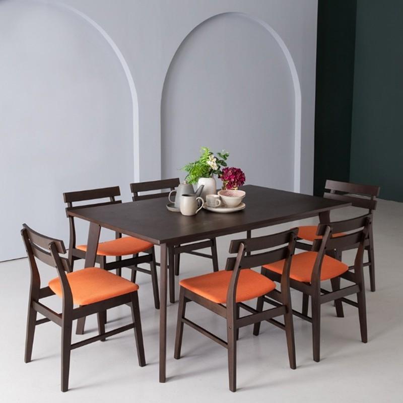 AUGUSTUS solid wood 6 seater dining set/ set meja makan/ meja makan