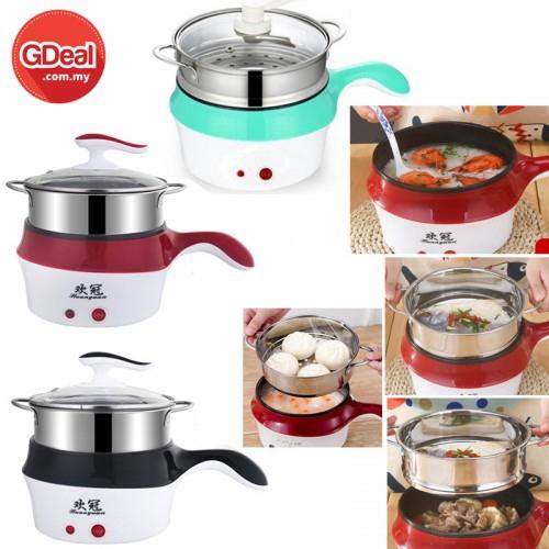 1.5L Multi-Function Electrothermal Steamer Pan Instant Hot Cooking Frying Pan