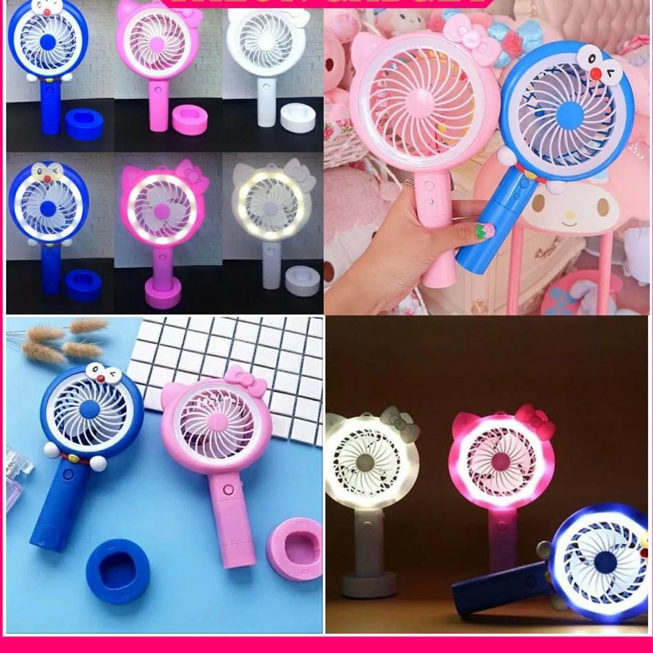 Portable Hand Mini Clip Fan Baby Stroller Cooling USB FAN & Hello Kitty Doraemon mini Fan