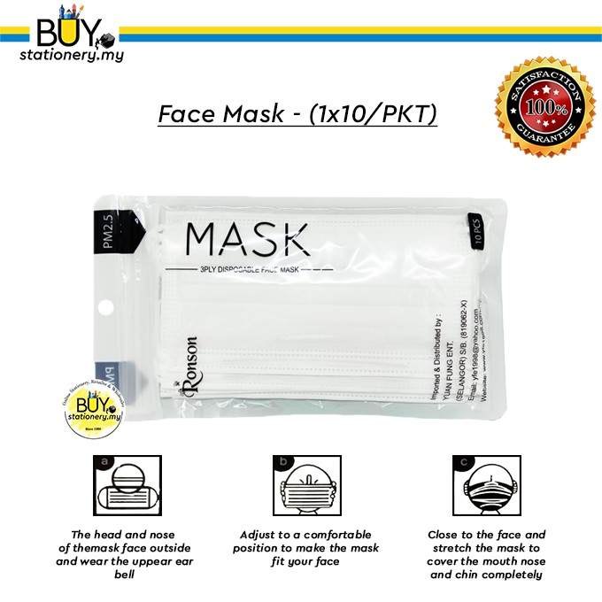 - Mask Ronson 1x10 pkt Face