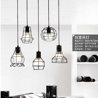 Decasa Ceiling Lamp Pendant Light Lampu Gantung Dining Hanging Lighting Single Base Long Round