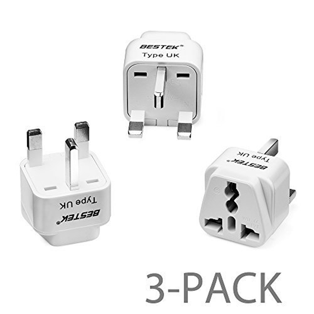 3Pack Mini Universal European US to EU AC Travel Outlet Plug Adapter Converter