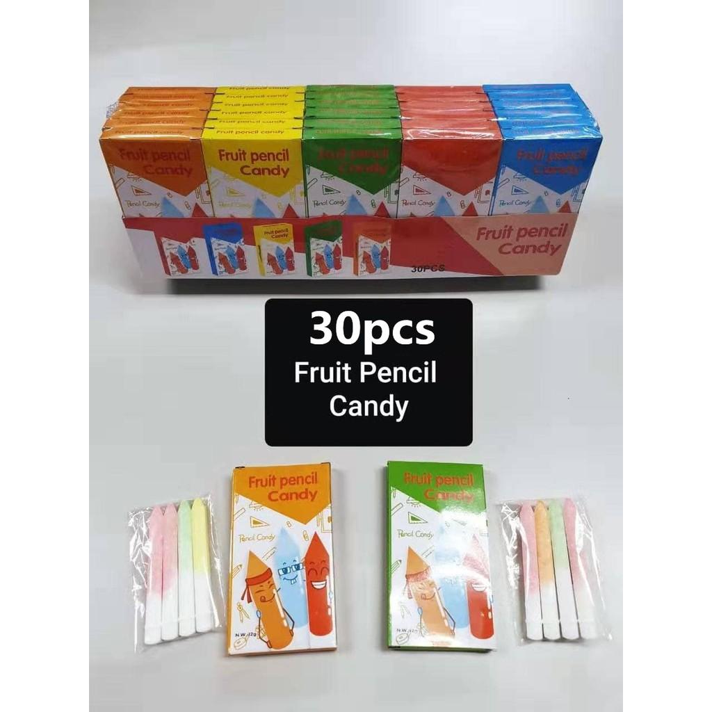 FRUIT PENCIL STICK CANDY 30PCS
