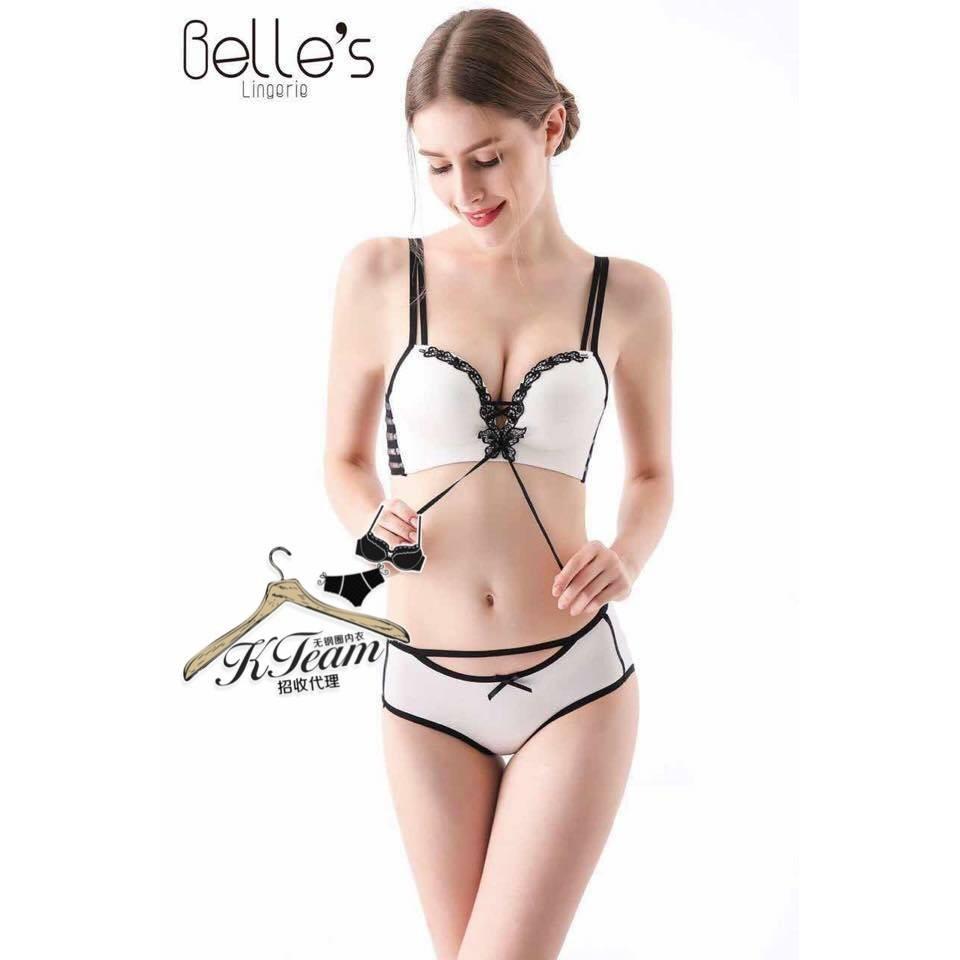 c4029025f Belle s Lingerie Series Rimless Bra Set