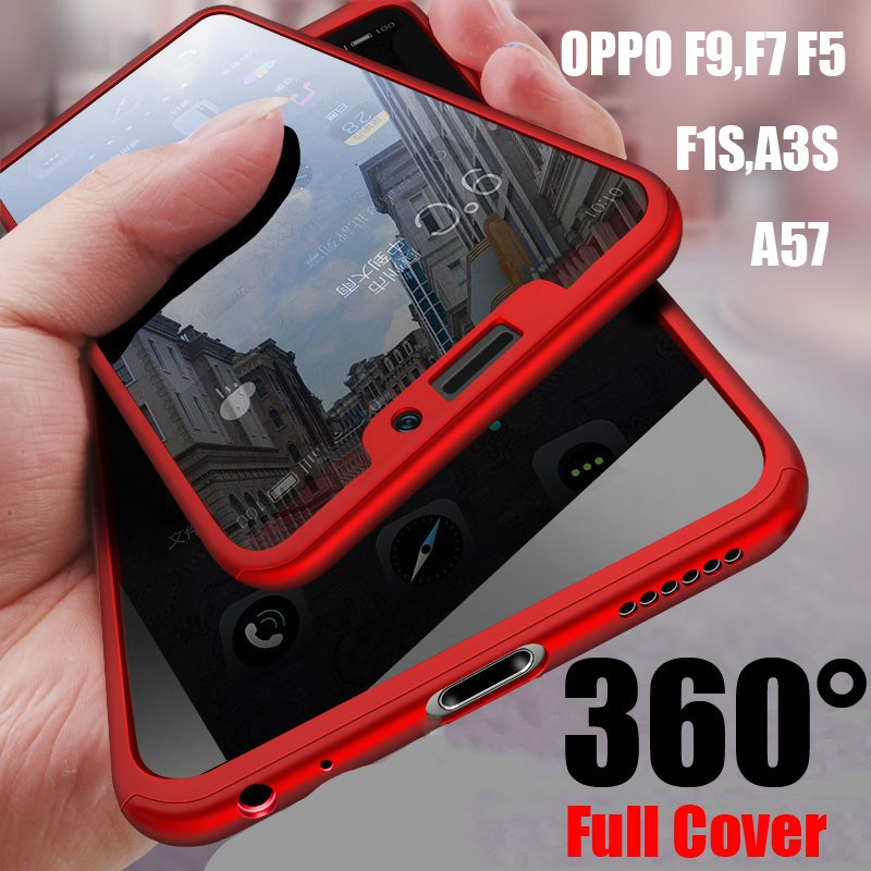 low priced ecb0b 226d1 OPPO F9 F7 F5 F1S A3S A1 A57 A71 A79 A83 Casing 360 Full Cover Matte Hard  Case