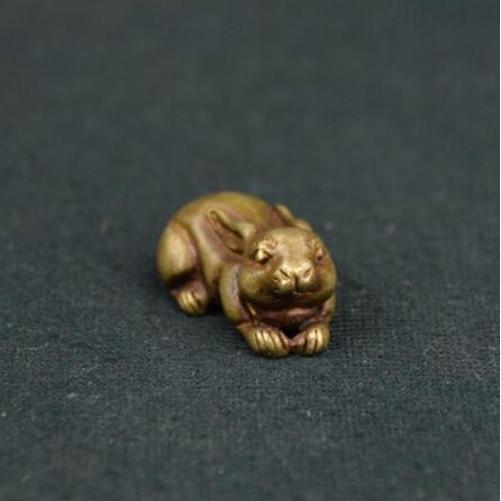 China/'s archaize brass rhino Small statue