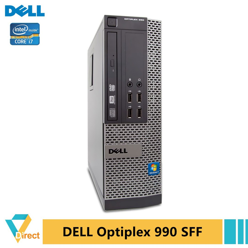 Core i7 8GB 500GB HDD Dell Optiplex 790 990 SFF desktop PC