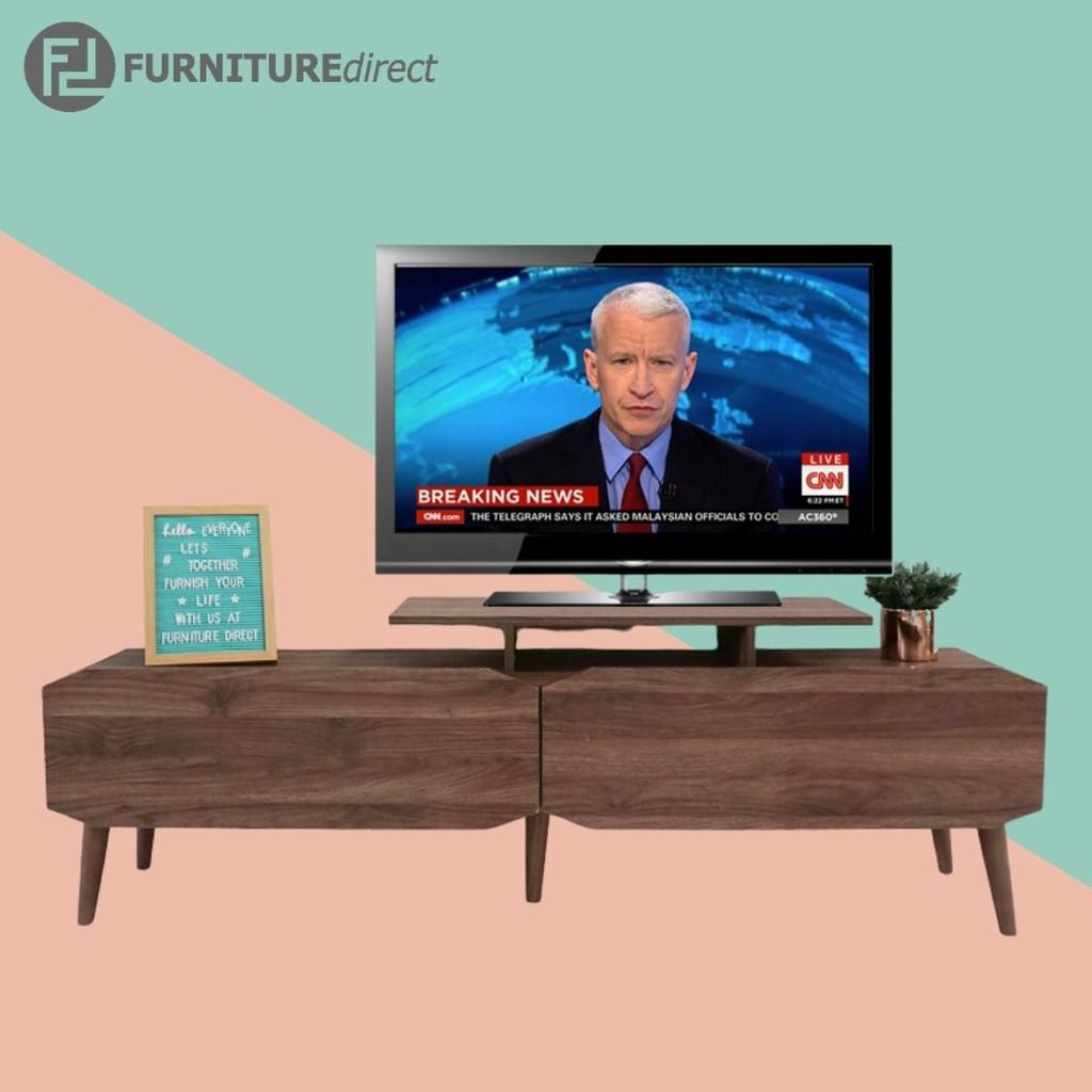 MAJA 5 feet Scandinavian TV cabinet with 2 drawers/ rak tv/ kabinet tv/ rak tv kayu