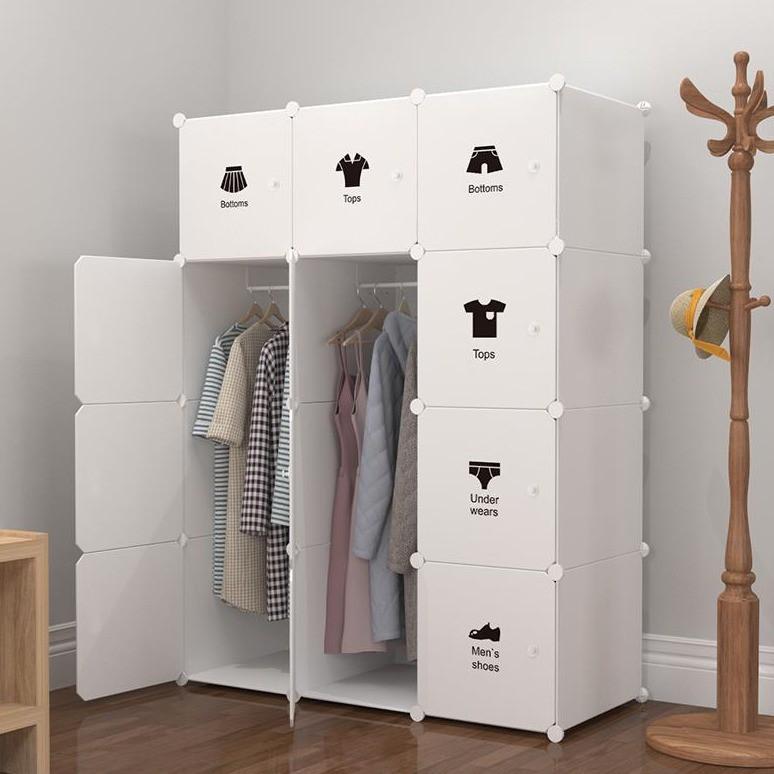 MALAYSIA: White 12 cube DIY Multipurpose Wardrobe Cabinet Clothes Storage Organizer Almari Rak