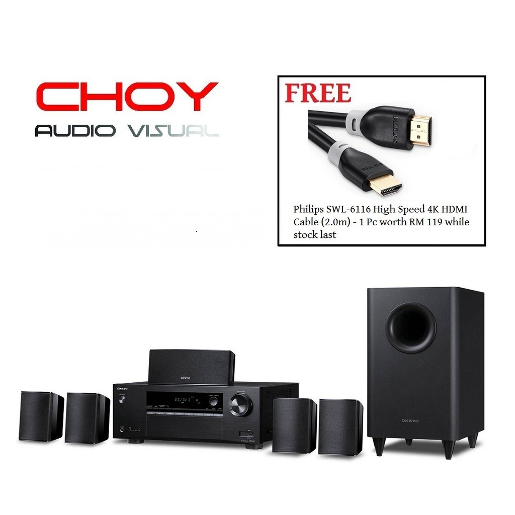 Onkyo HTS-3800 5 1 Home Theater System + FREE GIFT