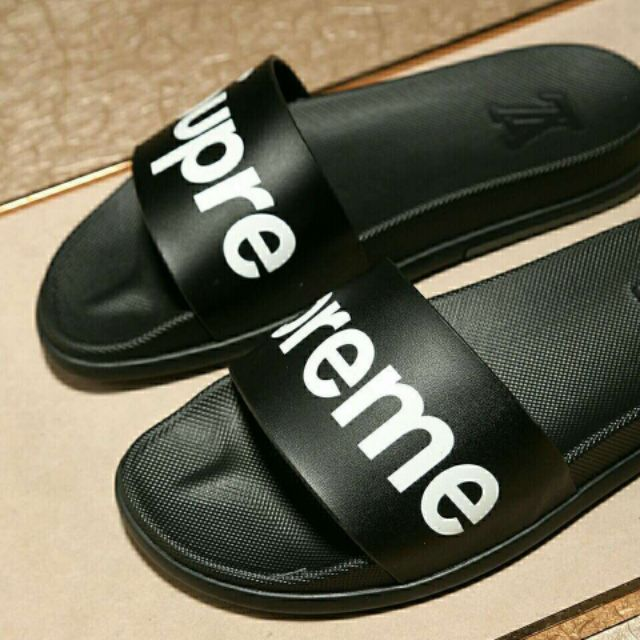 LV2020supreme men's shoes, home casual slippers, leather printed slippers, luxury slippers,