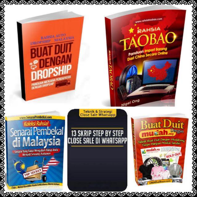 KOMBO 5 eBook BUAT DUIT DENGAN DROPSHIP DI SHOPEE