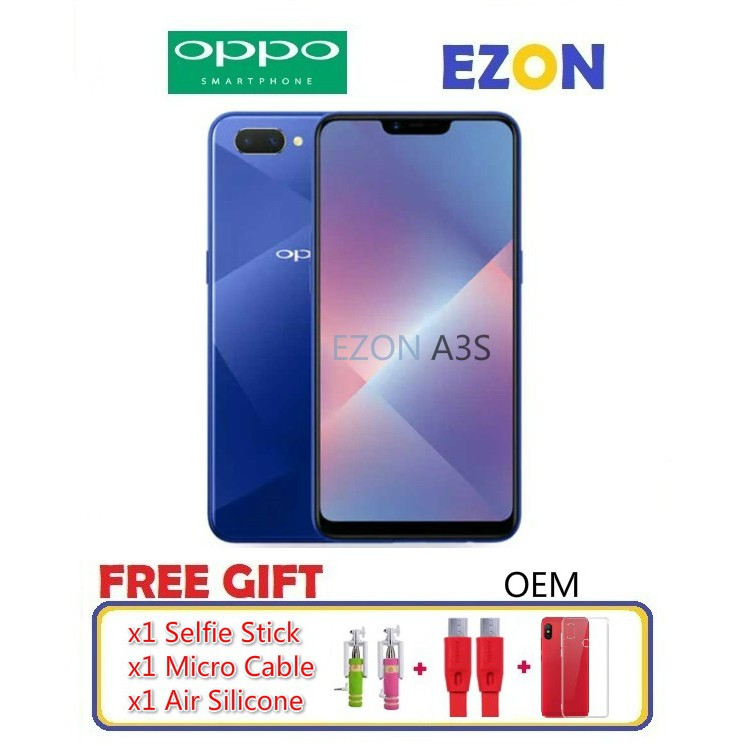 👍🔥HOT SALE🔥👍OPPO A3S MOBILE PHONE (IMPORT SET)🇰🇷🇰🇷
