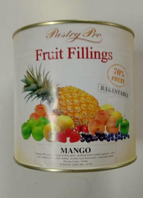 PastryPro Fruit Fillings Mango- 70% Fruit- (2.7kg)
