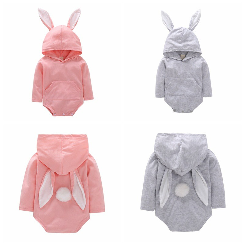 V-A-O-L Infant Cute 3D Bunny Ear Romper Jumpsuit Playsuit Rompers One Piece