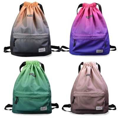 Simple Drawstring Backpack Sports Athletic Gym Cinch Sack String Storage Bags for Hiking Travel Beach