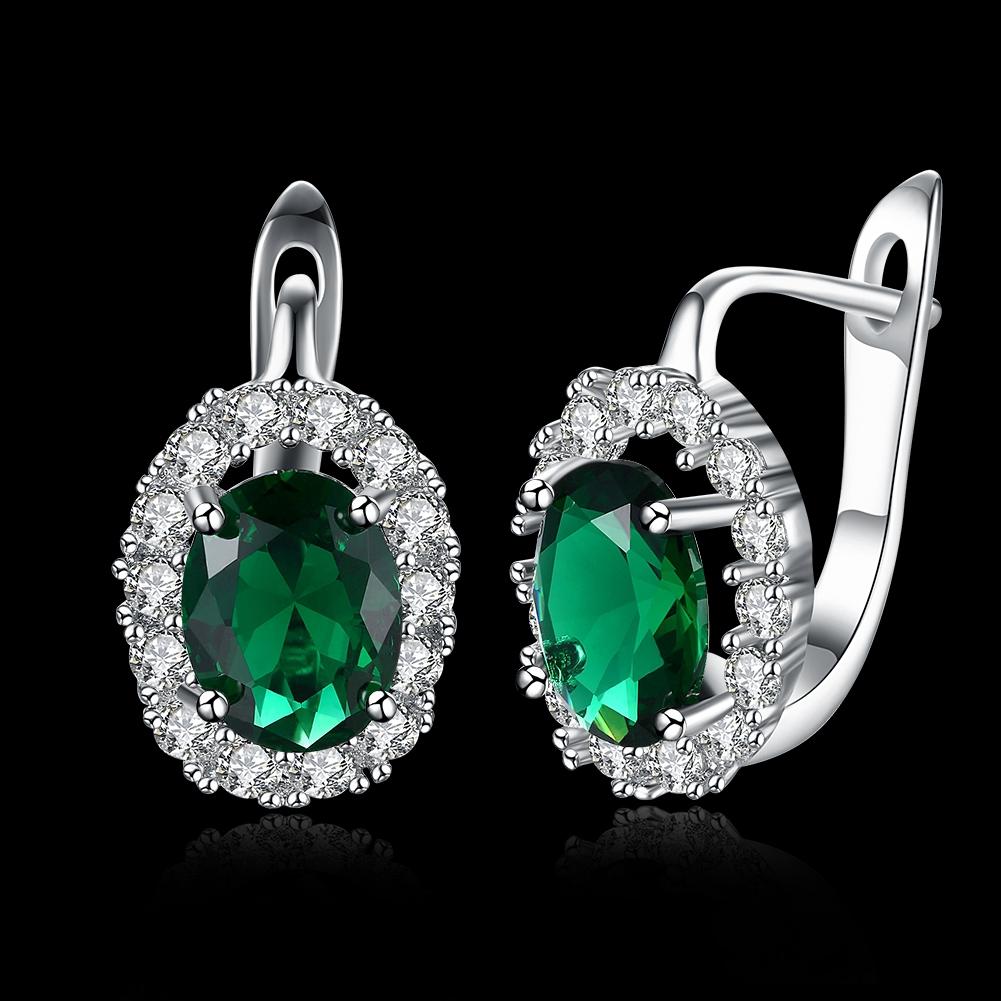 Zircon Earring Ring Green Diamond Romantic Wind Earring Clip