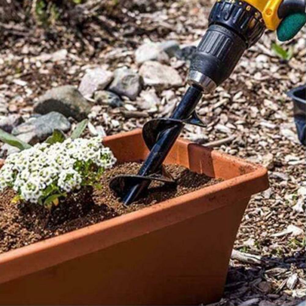 4.6x37cm Garden Auger Drill Bit 3//8 Hex Shaft HSS Spiral Drill Bit Farm Planting Auger Digging Tool for Planting Bedding Flower Bulb Seedlings